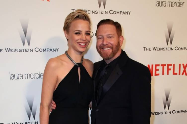 Jessica Roffey + Ryan Kavanaugh at TWC/Netflix post-Golden Globes party