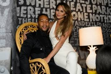 John Legend and Chrissy Teigen at Foxtail Nightclub