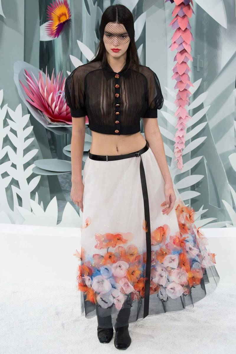 Kendall Jenner at Chanel Haute couture spring 15