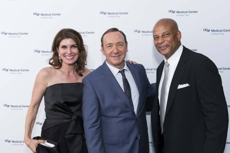 Karen Lott, Kevin Spacey and Ronnie Lott