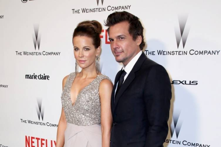 Kate Beckinsale and Len Wiseman at TWC/Netflix post-Golden Globes party