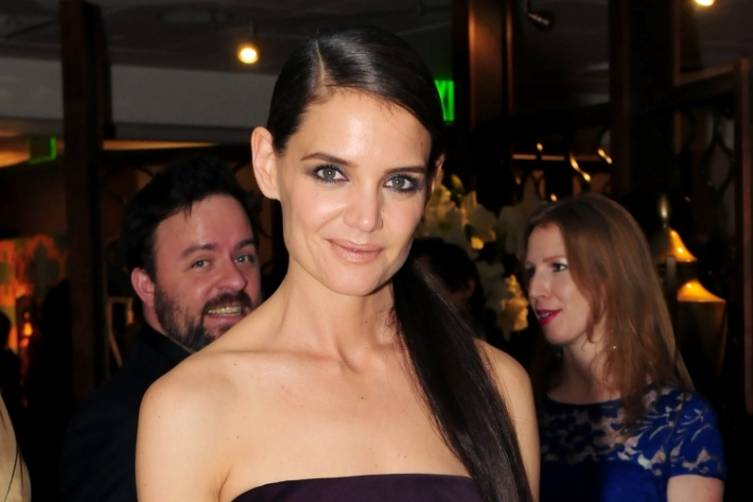 Katie Holmes at HBO's post-Golden Globes party