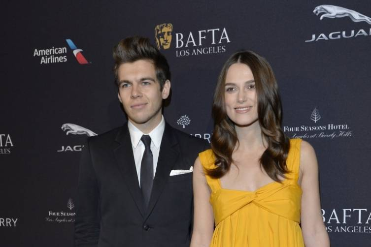 Keira Knightley and James Righton at the BAFTA Tea Party