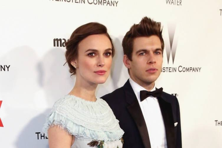 Keira Knightley and James Righton at TWC/Netflix post-Golden Globes party