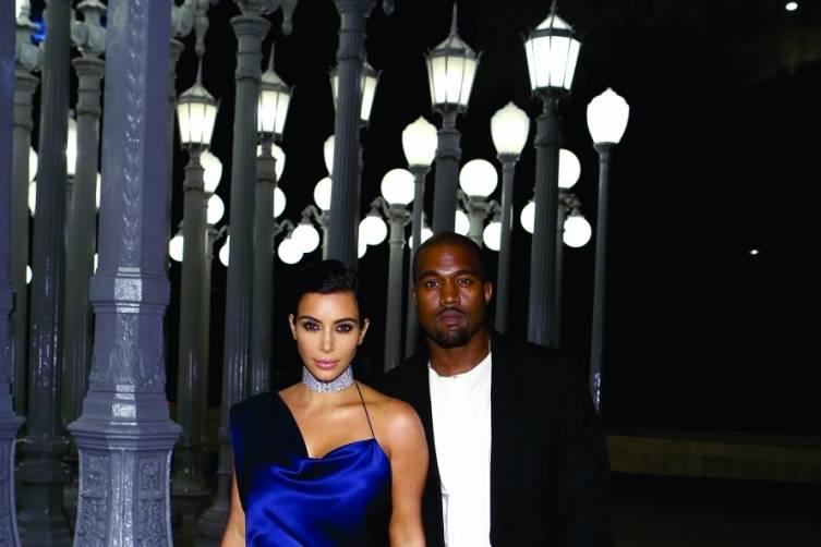 Kim Kardashian West, Kanye West, Rich Polk:Getty Images for LACMA