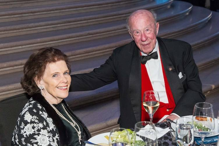 Lucy Jewett and George Shultz