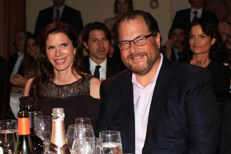 Lynne and Marc Benioff at the 4th Annual Sean Penn & Friends HELP HAITI HOME gala benefitting J/P Haitian Relief Organization