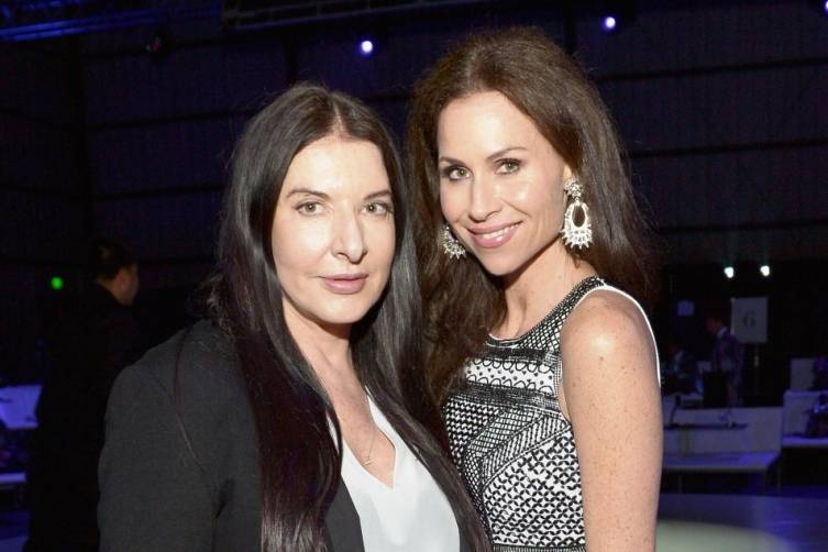Marina Ambramovic and Minnie Driver at the Art of Elysium Heaven Gala