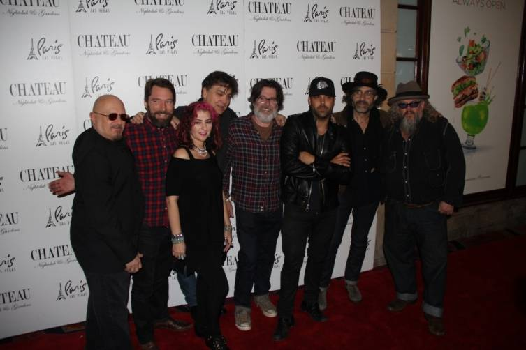Mark Boone Junior with The Forest Rangers and Franky Perez on the Chateau red carpet.