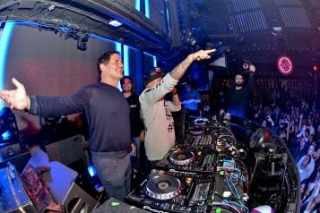 Mark Cuban and DJ Chuckie at Marquee
