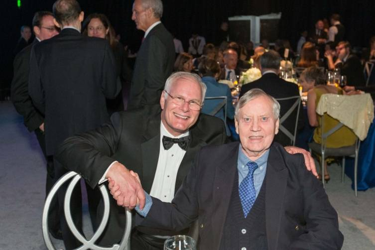 Mark Laret and Chuck Feeney