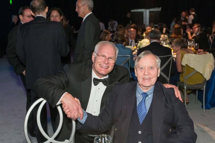 Mark Laret and Chuck Feeney