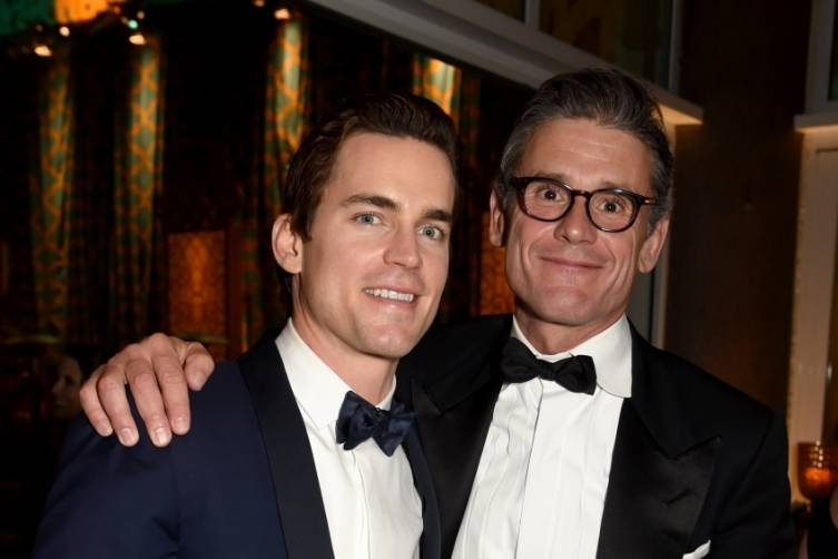 Matt Bomer and Simon Halls at HBO's post-Golden Globes party