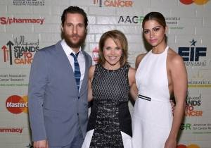 Matthew McConaughey, Katie Couric and Camila Alves