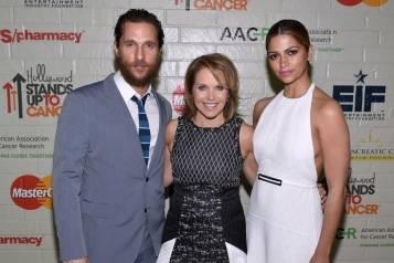 Matthew McConaughey, Katie Couric and Camila Alves