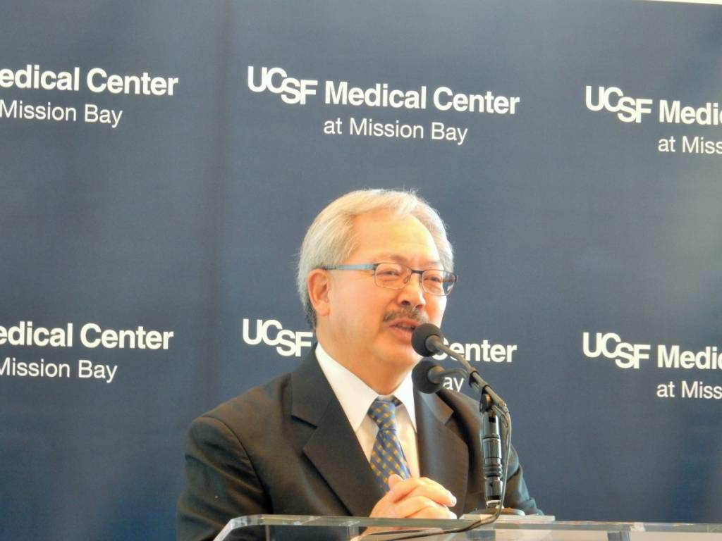 ucsf medical center at mission bay, mayor ed lee, ron conway, marc and lynne benioff