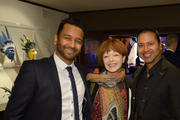Mukhtar O.S. Mukhtar, Francis Fisher & Russ Patroni attend ONE DROP event in Beverly Hills