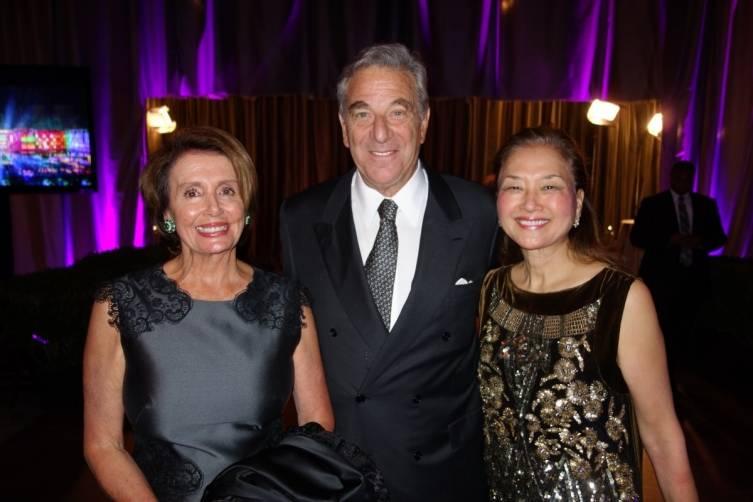 Nancy Pelosi, Paul Pelosi and Olivia Hsu Decker