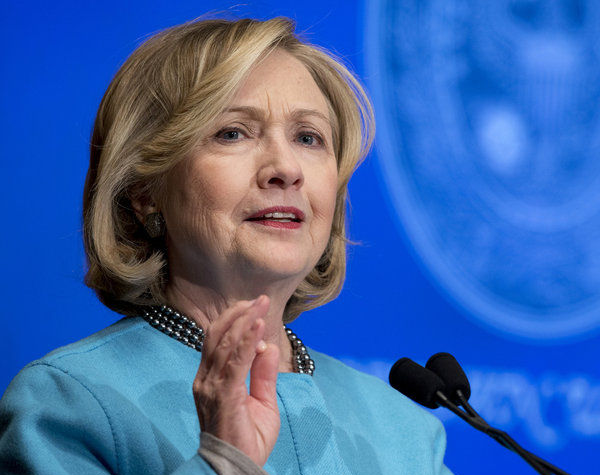 Hillary Clinton speaks at Georgetown University