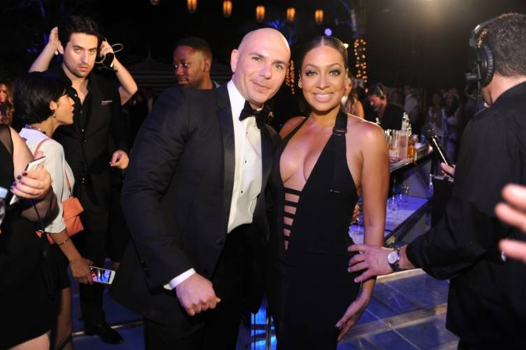 Pittbull and La La Anthony by World Red Eye