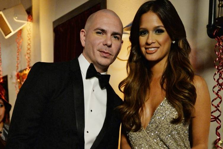 Pittbull and Rocsi Diaz by Jeff Daly/FOX