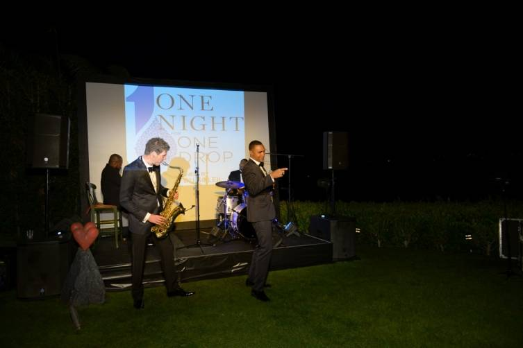 Recording Artist Sean Jones performs at ONE DROP event in Beverly Hills