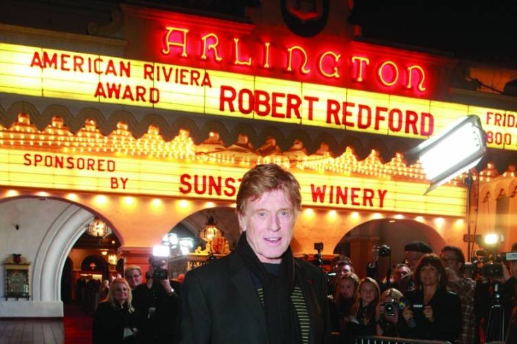Robert Redford, marquis, ph by Rebecca Sapp for SBIFF