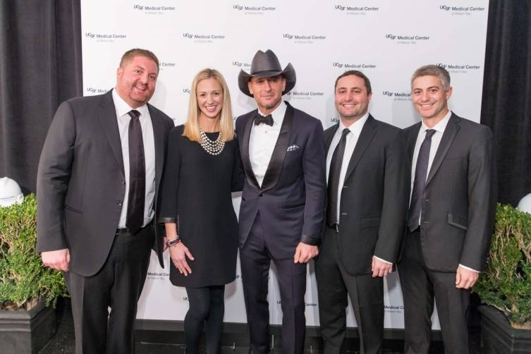 Ronny Conway, Michelle Conway, Tim McGraw, Tofer Conway and Danny Conway
