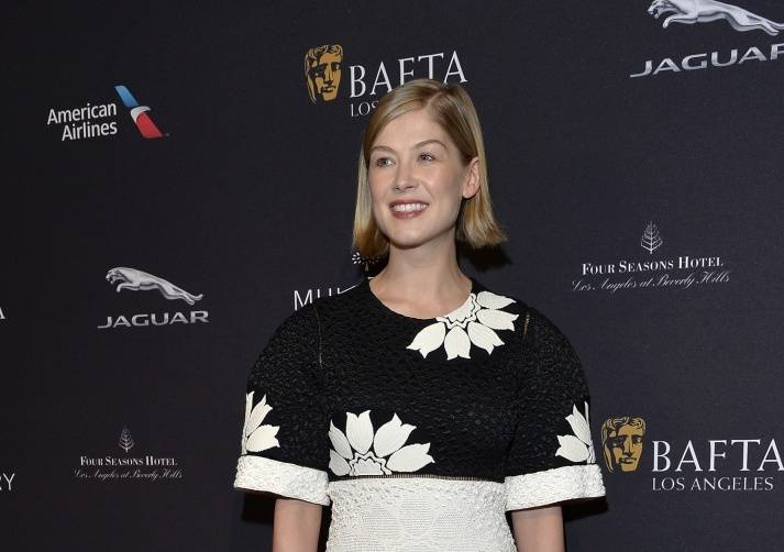 Rosamund Pike at the BAFTA Tea Party