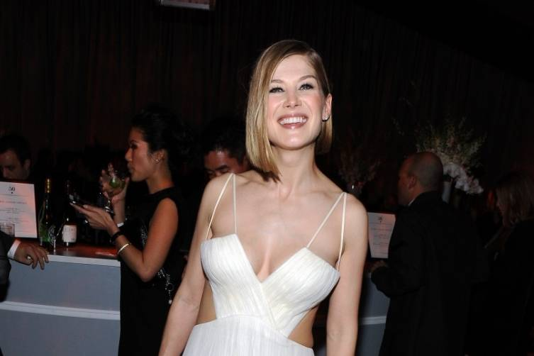 Rosamund Pike at TWC/Netflix post-Golden Globes party
