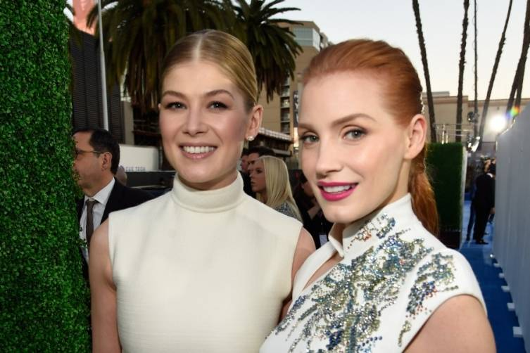 Rosamund Pike and Jessica Chastain