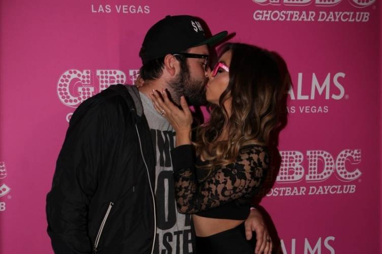 Scheana Marie and Mike Shay kissing at Ghostbar Dayclub