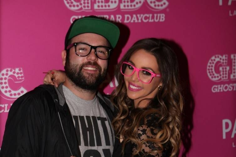 Scheana Marie and husband Mike Shay arrive to Ghostbar Dayclub at Palms