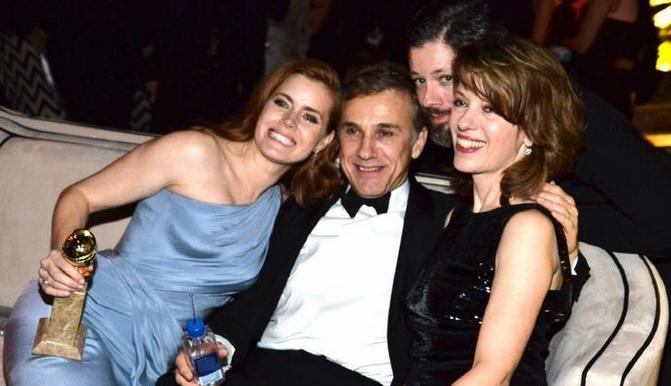 Amy Adams, Christoph Waltz, Darren Le Gallo and Judith Holste. Image via Getty.