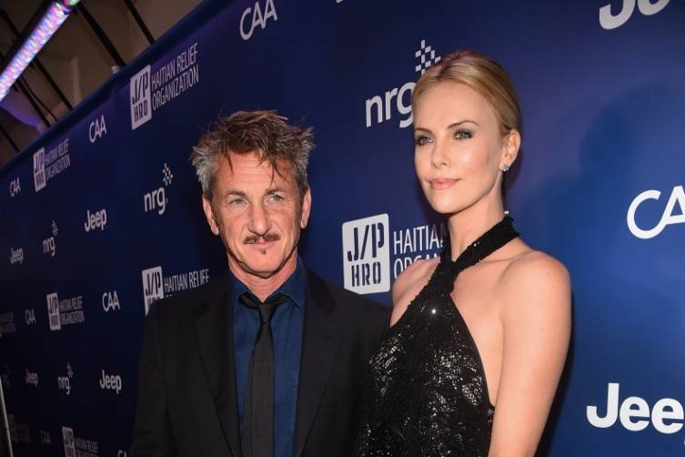 Sean Penn and Charlize Theron  at the Help Haiti Home gala