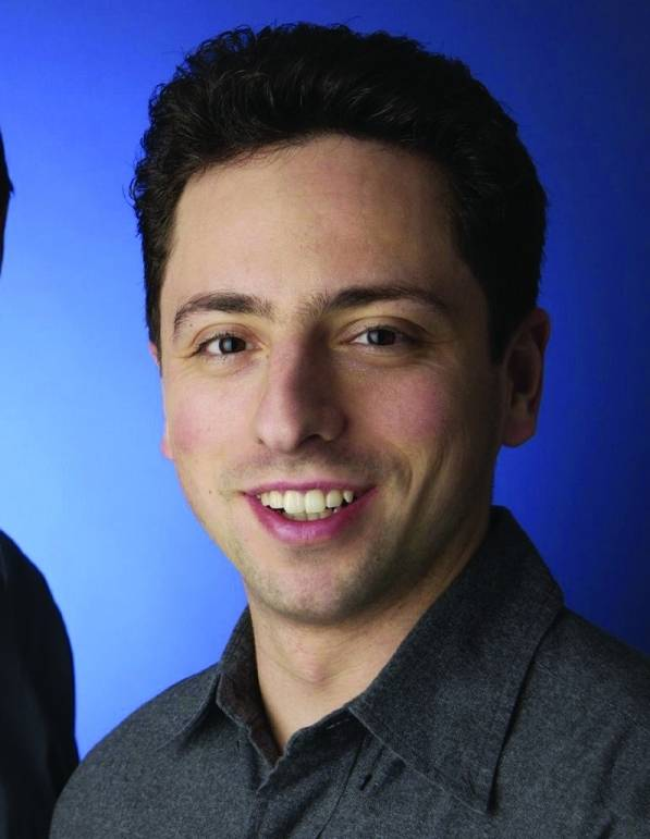Sergey Brin (crop photo - he is on RIGHT), credit Google