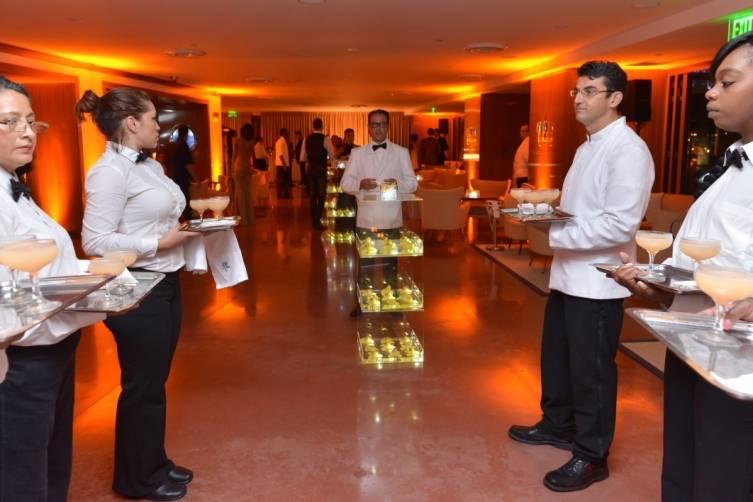 Servers at Sean Wolfingtion NYE party at Cipriani