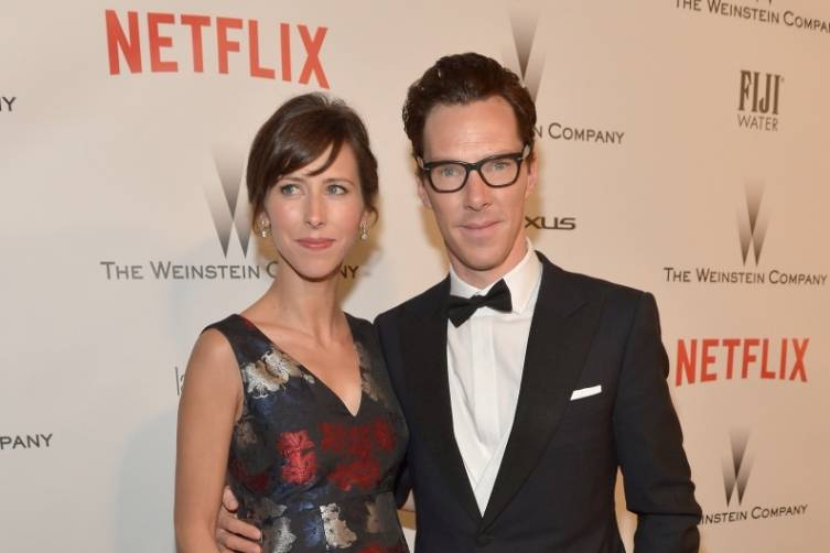 Sophie Hunter and Benedict Cumberbatch at TWC/Netflix post-Golden Globes party