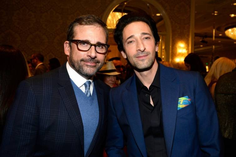 Steve Carrell and Adrien Brody at the BAFTA Tea Party