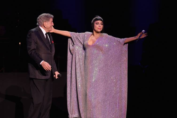 Tony Bennett and Lady Gaga perform at The Cosmopolitan. Photo: Ethan Miller