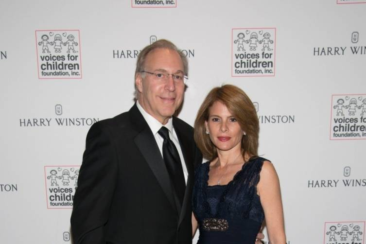 Voices For Children Foundation Board member Richard Goldstein and Kattia Goldstein by Orlando Garcia