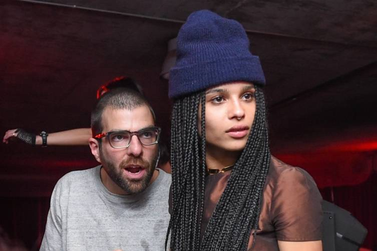 Zachary Quinto and Zoe Kravitz at Elyx presents TAO Nightclub at Sundance