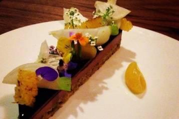 mourad_duck liver, cocoa, pistacchio, citrus, blossoms