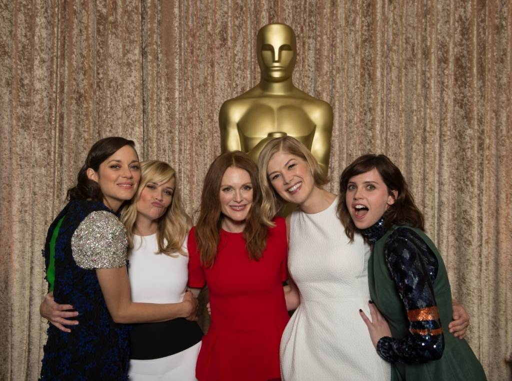 Best Actress nominees Marion Cotillard, Reese Witherspoon, Julianne Moore, Rosamund Pike and Felicity Jones
