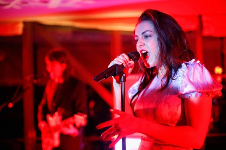 Charli XCX performs at Delta Airlines' pre-Grammy party
