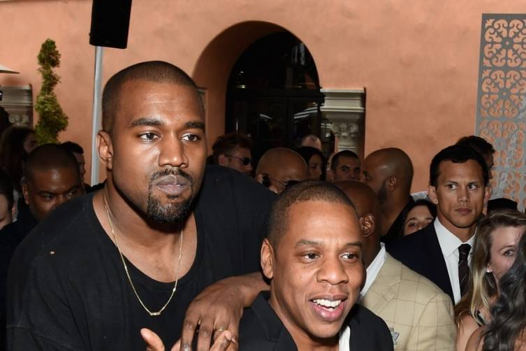 Kanye West and Jay-Z attend Roc Nation and Three Six Zero's pre-Grammy brunch
