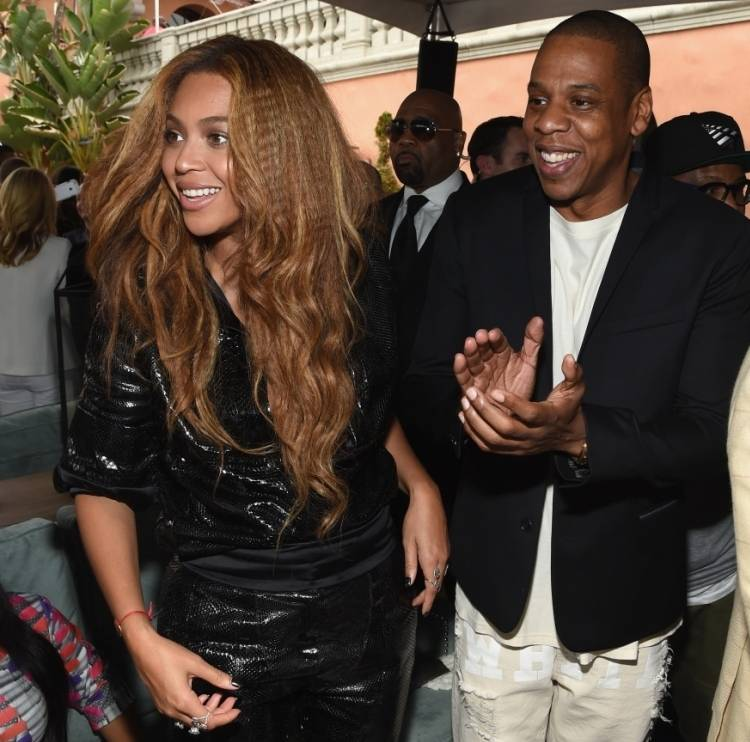 Beyonce and Jay attend the ROC Nation and Three Six Zero pre-Grammy brunch