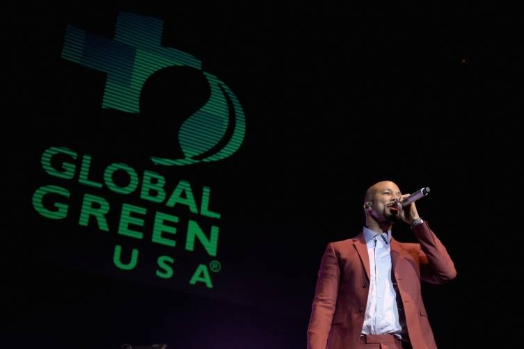 Common performs at the Global Green pre-Oscar party
