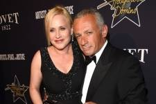 Patricia Arquette and Pascal Raffy