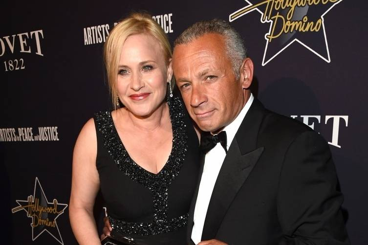 Patricia Arquette and Pascal Raffy